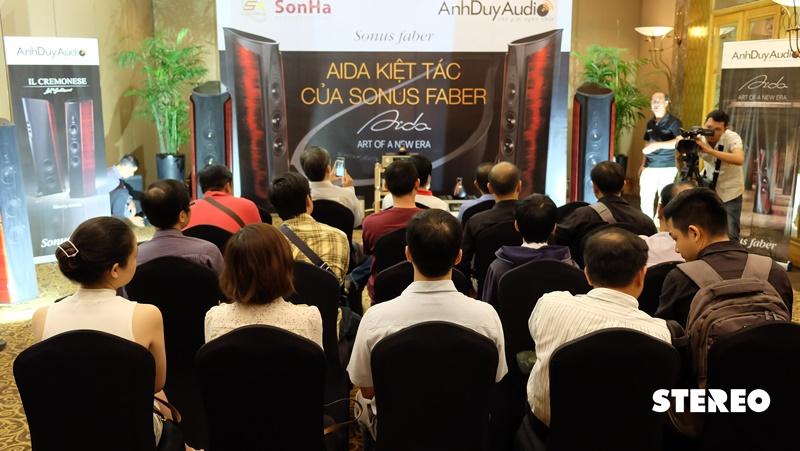 Sonus Faber AIDA lần đầu trình diễn tại Việt Nam