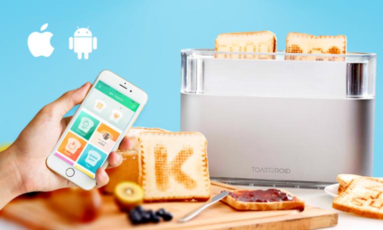 Toasteroid: Trao lời nhắn từ smartphone đến… bánh mì