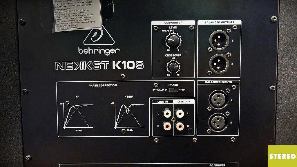 Trên tay Behringer NEKKST K10S: khi studio cũng cần đến subwoofer !