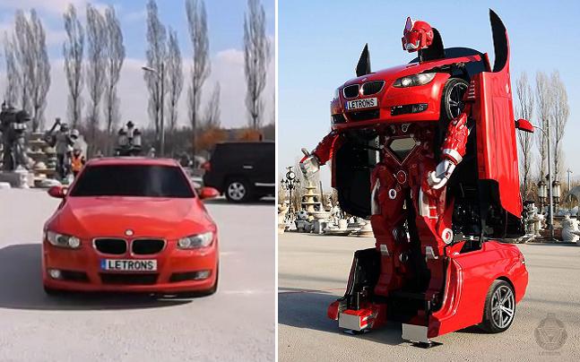 Hô biến! Ô tô thành Transformers đời thực