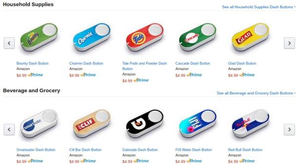 Nút bấm mua hàng online siêu tốc Dash Buttons đã đến châu Âu
