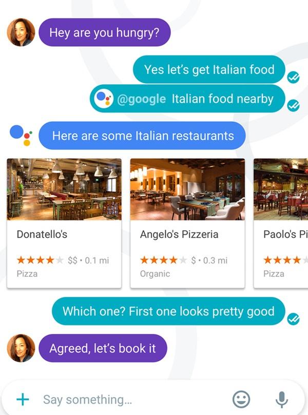 """Ứng dụng chat Google Allo """"cân sức, cân tài"""" với WhatsApp và Messenger"""