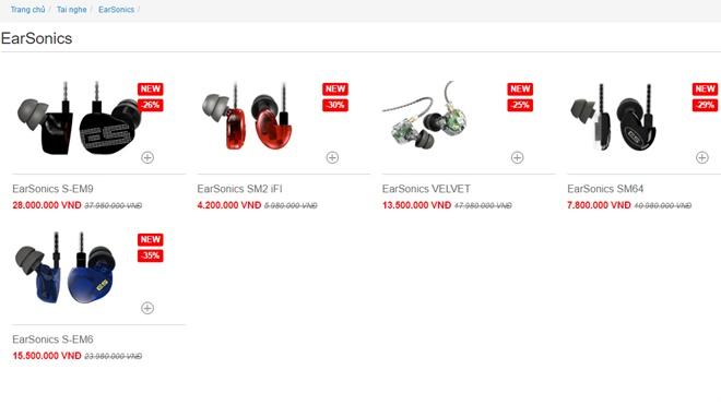 [TTKM] Tai nghe EarSonics giảm giá đến 35% tại Việt Nam