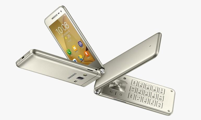 """Samsung lại ra smartphone nắp gập, cấu hình thấp, giá """"chát"""""""