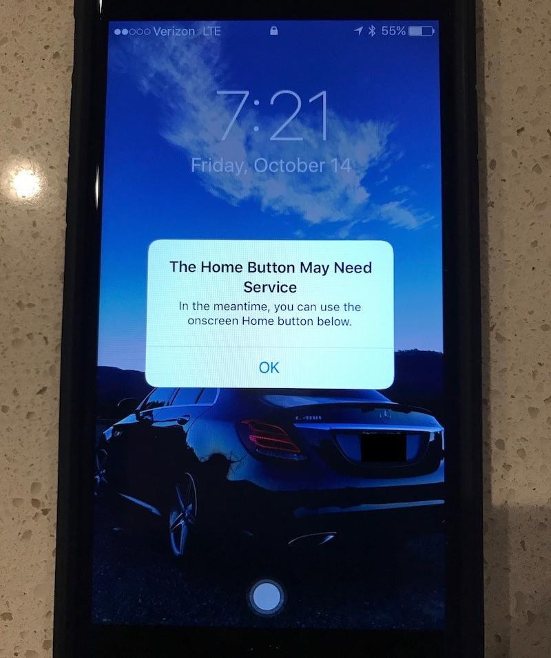Hỏng nút Home cảm ứng iPhone 7? Apple đã có cách dự phòng!