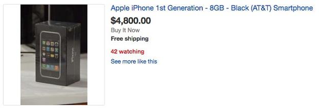 """Lượn một vòng eBay, săn iPhone 2G """"cổ lỗ sĩ"""" giá nghìn Đô"""