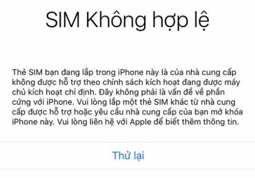 Nóng: iPhone quốc tế có thể bị lock mạng sau khi restore/reset