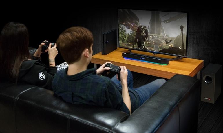 Creative ra mắt hệ thống loa soundbar Sound BlasterX Katana dành cho game thủ