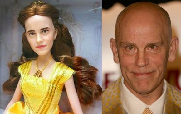 Cười té ghế trước búp bê Emma Watson giống hệt Justin Bieber