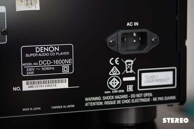 Denon DCD-1600NE: Nổi bật với hàng loạt kỹ thuật chống rung nhiễu độc đáo