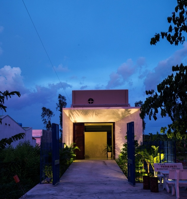 Thích thú trước thiết kế của ngôi nhà cấp 4 sâu hun hút tại Vĩnh Long