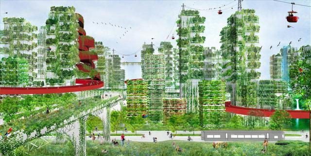 """Phủ xanh cao ốc, giải pháp tối ưu cho """"thành phố sương mù"""" ở Trung Quốc"""