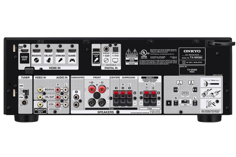 Onkyo công bố chiếc AV receiver nhập môn TX-SR383: Giá rẻ và có nhiều trang bị hấp dẫn