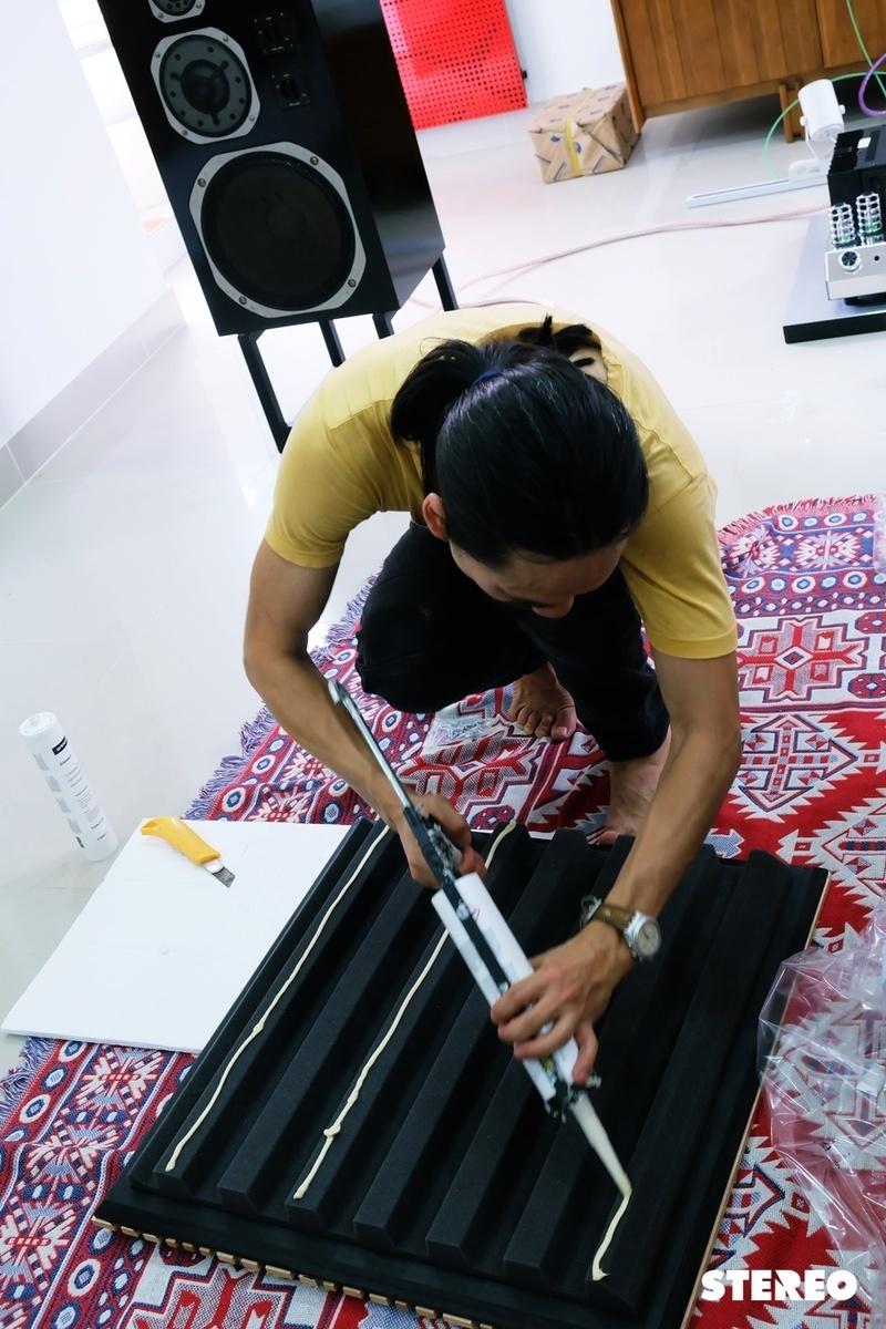 Lắp đặt tiêu tán âm Artnovion tại Stereo Lab