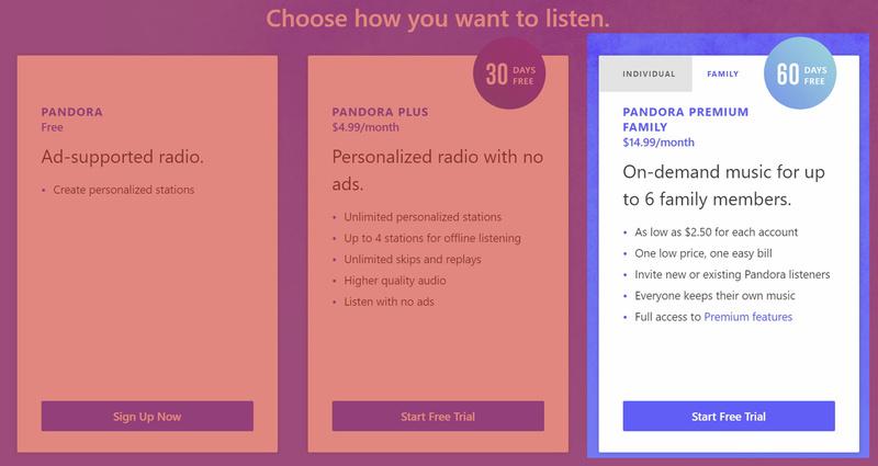 Pandora tung gói Family Plan với chỉ 15 USD/tháng, cạnh tranh trực tiếp cùng Spotify và Apple Music