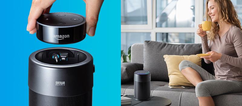 Loa di động Sanwa 400-SP077: Món phụ kiện độc đáo dành riêng cho loa thông minh Echo Dot