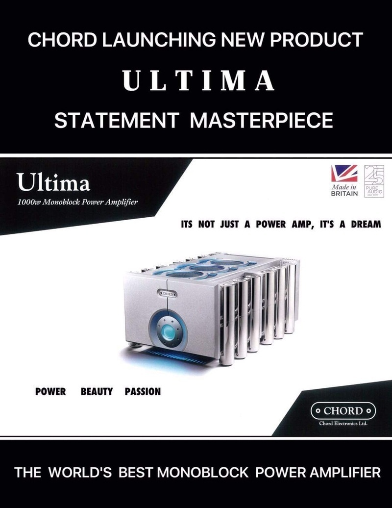 Lộ diện Chord Ultima: Bộ khuếch đại đỉnh cao của Chord Electronics