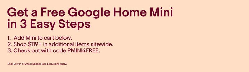 [Khuyến mãi] Nhận ngay loa thông minh Google Home Mini khi mua sắm trên eBay