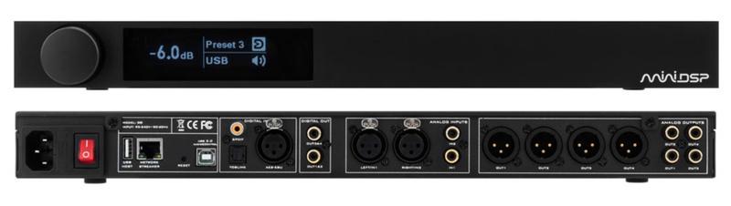 miniDSP SHD: Bộ xử lý âm thanh số hỗn hợp, trang bị streaming, DAC, phono, pre-amp và Dirac Live