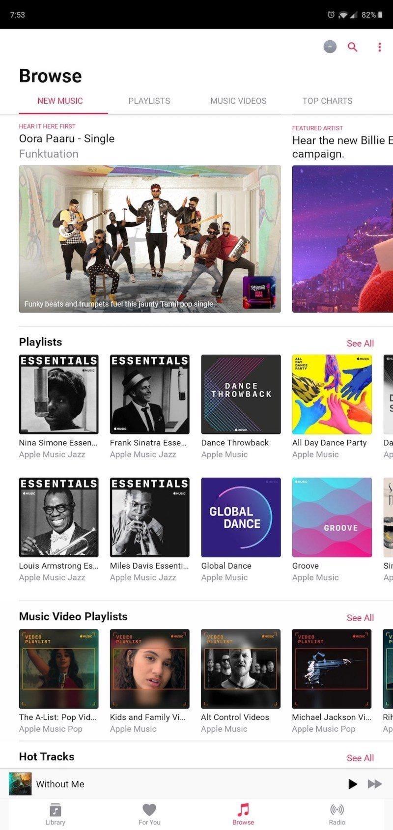Máy tính bảng Android nay đã có thể sử dụng Apple Music