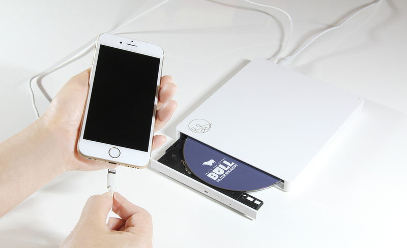 I-O DATA CD Reco: Đầu CD có khả năng đọc, ghi, rip đĩa trực tiếp trên smartphone