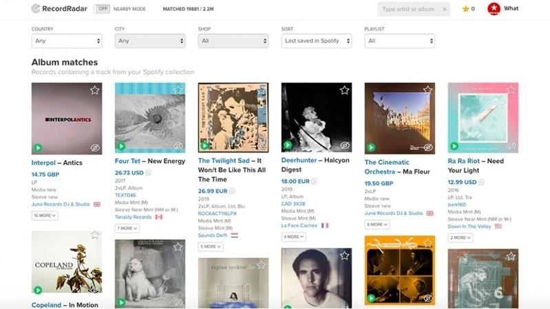 Record Radar: Công cụ tiện lợi để tìm đĩa than từ playlist Spotify
