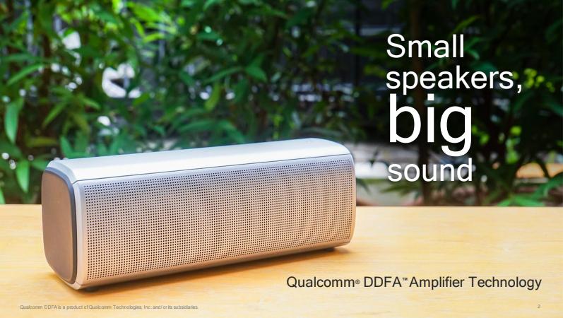 Qualcomm ra mắt công nghệ amplifier mới, cải thiện chất lượng âm thanh cho loa không dây