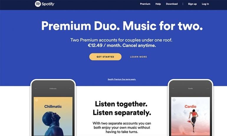 Spotify giới thiệu gói thuê bao mới dành cho 2 người dùng