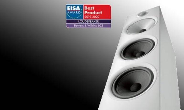 """Loa cột Bowers & Wilkins 603 giành giải thưởng """"Loudspeaker of the Year"""" 2019 do EISA bình chọn"""