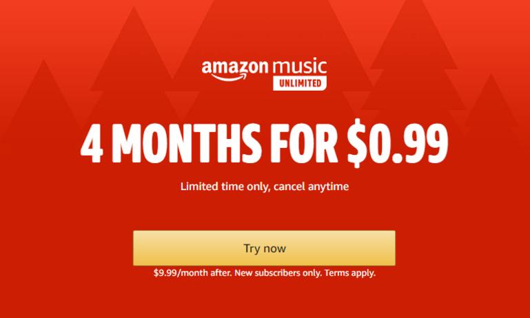Amazon bất ngờ tung gói khuyến mãi hấp dẫn dành cho người đăng ký mới dịch vụ Amazon Music Unlimited