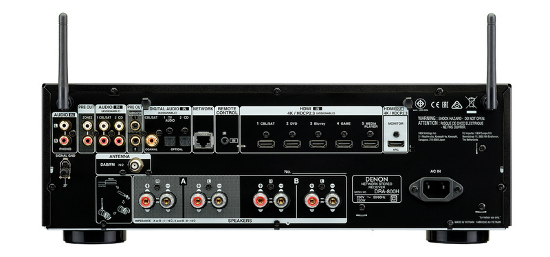 Stereo receiver Denon DRA-800H: Chiếc ampli nghe nhạc mạnh mẽ, đa năng và hiện đại