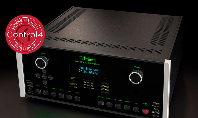 Đầu AV processor McIntosh MX123 nhận chứng chỉ Connect with Control4