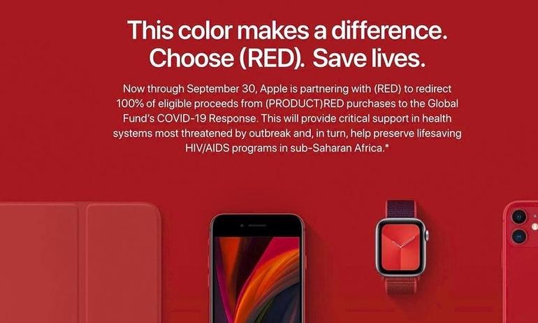 Apple quyên tặng lợi nhuận từ các sản phẩm (PRODUCT)RED trong công cuộc chống đại dịch COVID 19