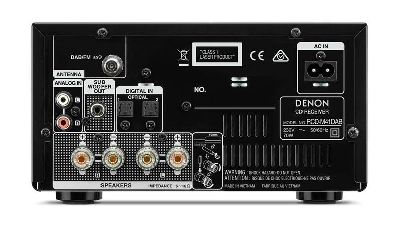 Thưởng thức âm nhạc chất lượng cao với dàn âm thanh mini Denon D-M41DAB