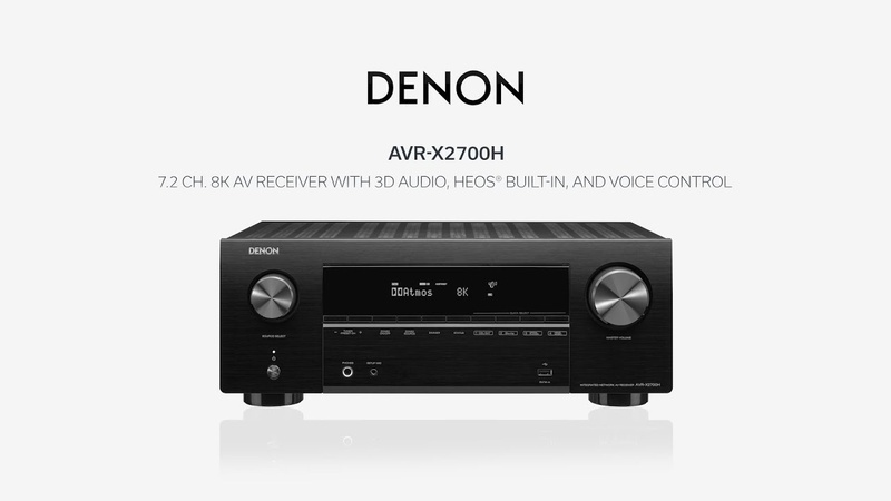 Denon trình làng loạt AV Receiver 8K đầu tiên trên thế giới
