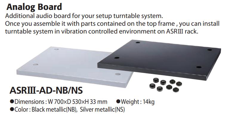 TAOC phát hành bộ đôi kệ chống rung cao cấp ASR-II i  và ASR-III
