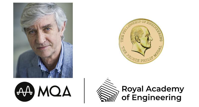 Nhà sáng lập MQA Bob Stuart được nhận huy chương vinh danh từ Học viện Kỹ thuật Hoàng gia