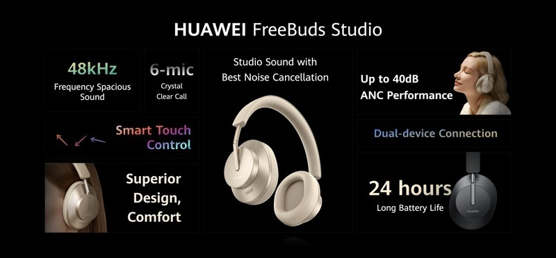 Huawei ra mắt tai nghe over-ear Freebuds Studio
