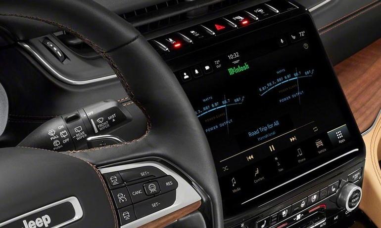 Jeep công bố thời điểm ra mắt xe Grand Wagoneer dùng hệ thống âm thanh McIntosh