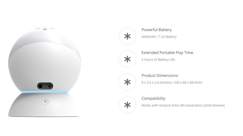 Amazon Battery Base: Món phụ kiện biến Echo thành loa di động