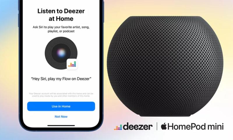 Loa HomePod và HomePod Mini đã hỗ trợ dịch vụ Deezer trong tính năng điều khiển qua giọng nói