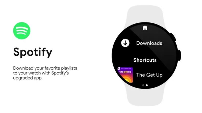 Đồng hồ dùng Google Wear chuẩn bị có thêm tính năng nghe offline Spotify và Youtube Music