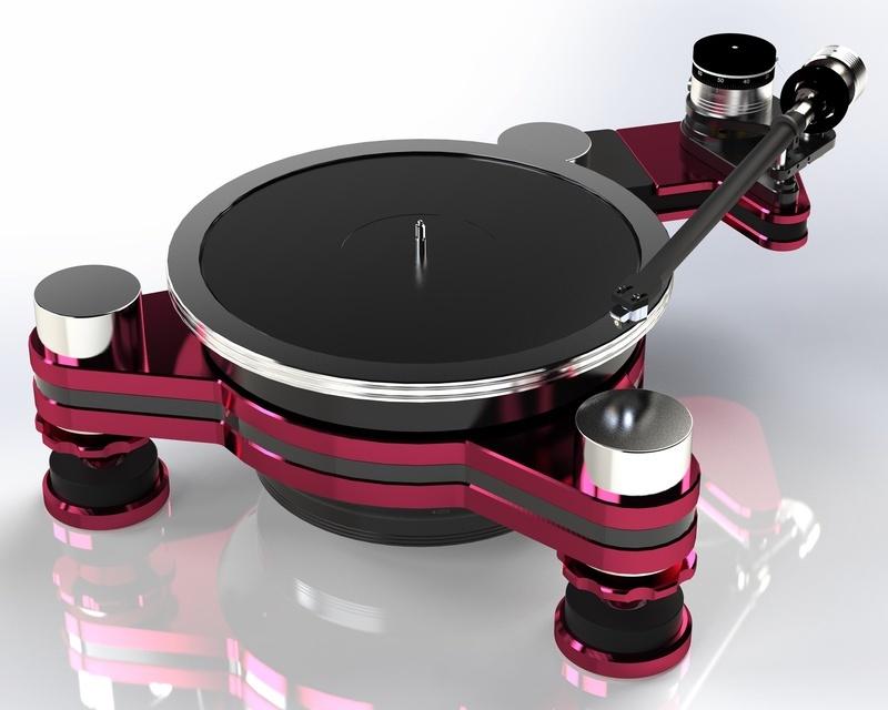 VPI tung loạt ảnh ghi lại quá trình hình thành mâm đĩa than Vanquish Magnetic Drive