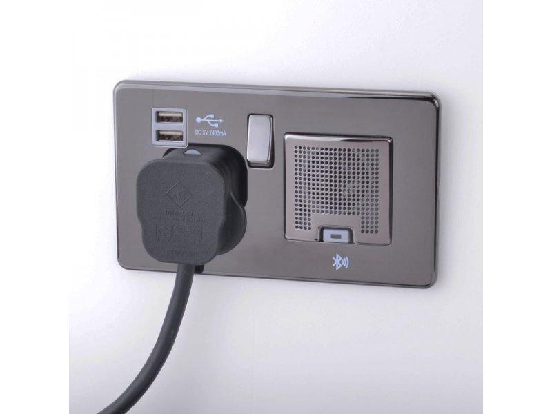 Ổ cắm điện tích hợp loa Bluetooth: Món phụ kiện dành cho người yêu nhạc