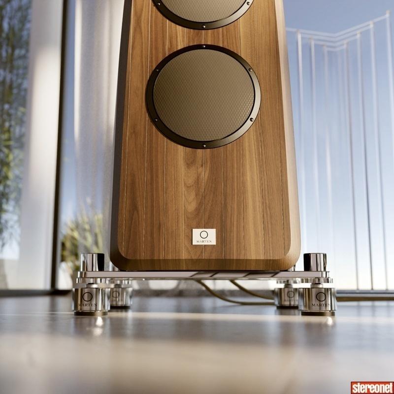Marten Audio hợp tác cùng IsoAcoustics sản xuất dòng chân loa cao cấp Marten Isolators