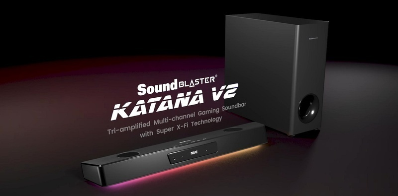 Creative ra mắt loa soundbar gaming Sound Blaster Katana V2: Công suất tăng 68%, có thêm HDMI ARC