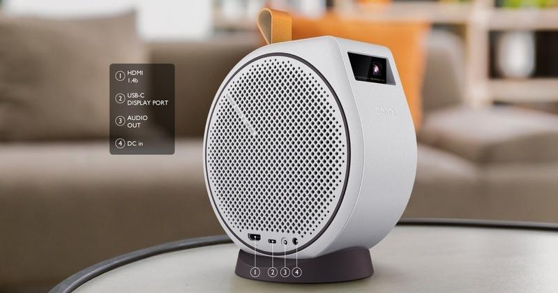 BenQ GV30: Thoải mái giải trí tại gia với chiếc máy chiếu mini tích hợp hệ thống loa 2.1